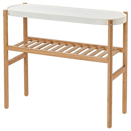 IKEA SATSUMAS 902.581.56 - Soporte para plantas (bambú), color blanco
