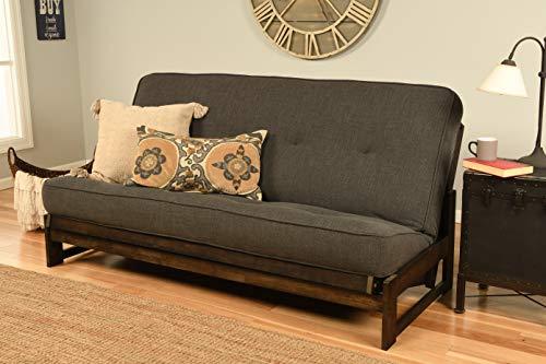 Kodiak Aspen Full-Size Futon Mattress, Linen Charcoal
