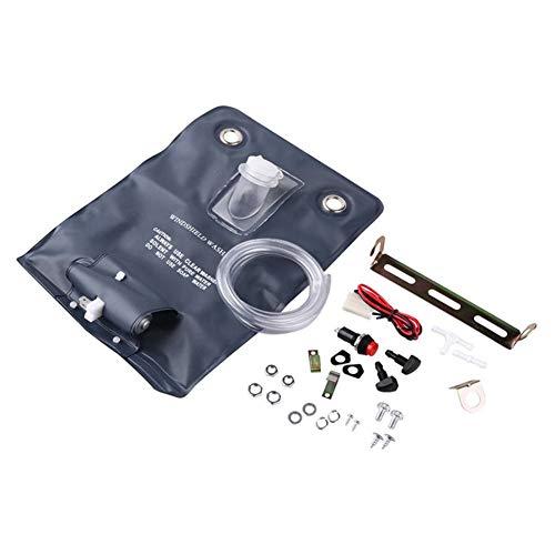 qhtongliuhewu Kit de Limpieza de Parabrisas con Bolsa de 12 V Bomba Universal – 8.07 Pulgadas x 3.15 Pulgadas x 3.15 Pulgadas (Aprox.)