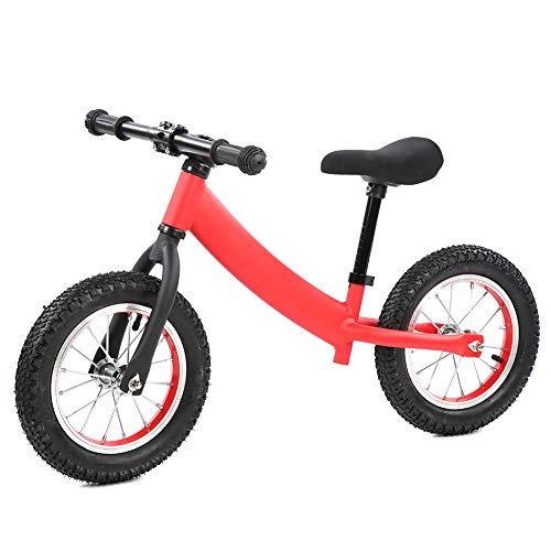 LLF Bicicletas sin Pedales, Niños Y Niñas Bicicleta De Equilibrio, Aleación De Aluminio Sin Pedal Dos Ruedas Niños Niños Correderos Niños Equilibrado Aprendizaje Caminar Bicicleta Rojo