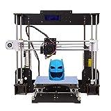 Stampante 3D A8 Prusa I3 Desktop 3D Printer, Stampante 3D desktop di alta precisione, Stampante con ABS/PLA 1,75 mm (Stampante 3D A8-Y5)-Tigtak (Stampanti 3D-A8)