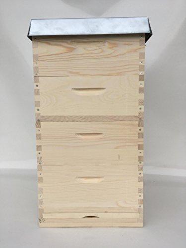 Apisfarm Langstroth 2/3 Beute (10 Waben) mit 40 Rähmchen, gedrahtet und geöst - Langstroth 2/3 Beehive (10 Frames) Weymouthskiefer