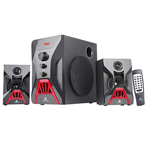 Zebronics Zeb-Bronze 2 2.1 Multimedia Speaker with Bluetooth connectivity,USB connectivity and SD Card Input