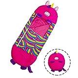 Saco de Dormir 2 en 1 Almohada, se Puede Transformar en un Saco de Dormir, Almohada Grande y Saco de Dormir, Saco de Dormir, Pijama de una Pieza para niños, Saco de Dormir para niños de Animales-Pink