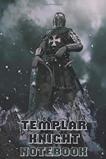 Templar Knight Notebook - Mountains - College Ruled