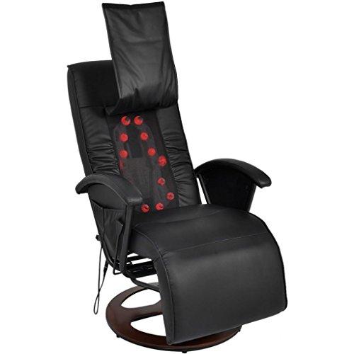 Preisvergleich Produktbild vidaXL Massagesessel Fernsehsessel Relaxsessel Liegesessel TV Shiatsu Schwarz