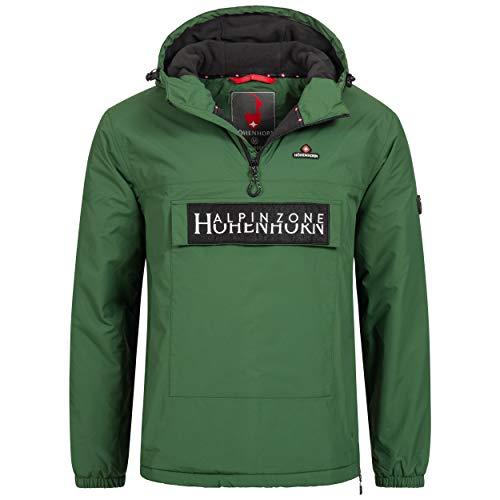 Höhenhorn Allesso - Chaqueta cortavientos para hombre con bolsillo en el pecho y forro verde S