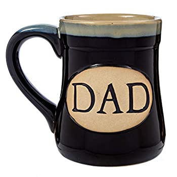 Dad Coffee Mug Cup – Porcelain Father Gift – Large for Men 18 Ounce – My Claim to Joy Love and Legacy – Black
