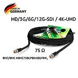 SOMMER CABLE - Koaxiales Videokabel mit BNC 75 Ω - HD/3G/6G/12G-SDI / 4K-UHD SC-Vector 0.8/3.7 -...