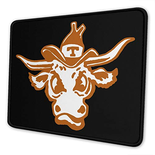 Texas Longhorns University Gaming Square Mouse Pad (7 X 8.6 in) Non-Slip Rubber Surface Mouse Pad Desktop Office Mouse Pad