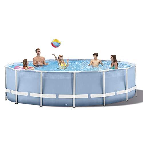 Tamaño Completo Inflable Salón Piscina Familia Inflable Nadando Piscina Al Aire Libre Jugar Conjunto con Filtrar Bomba 305 × 76 Cm (120.07 * 29.92In)