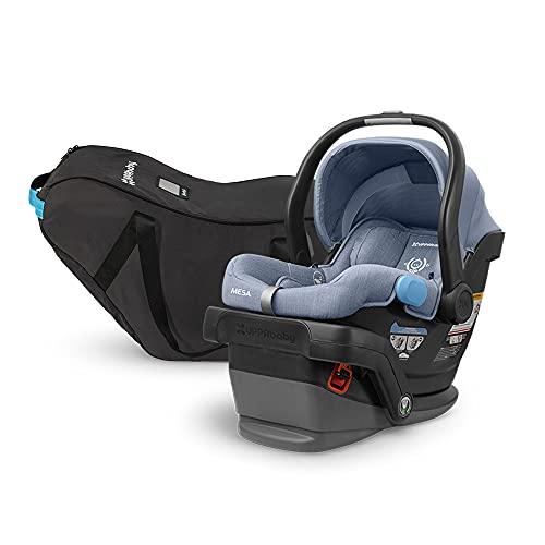 UPPAbaby MESA Infant Car Seat - Henry (Blue Marl) Wool Version + Travel Bag for MESA