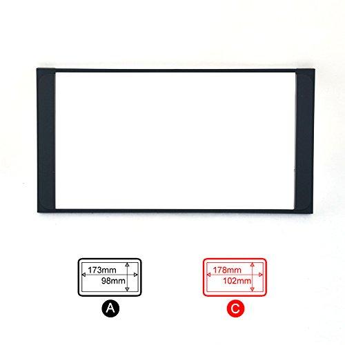 FEELDO Kit d'installation de façade d'autoradio 2 DIN (A)
