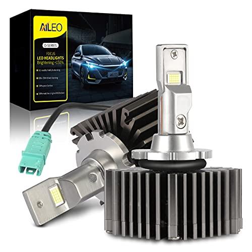D3S D3R Led Headlight Bulb Conversion Kit 50W 10000LM Plug Play to Original D3S D3R D3 Ballast Canbus Error Free 6000K White