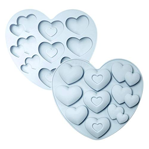Fenze 3D Love Heart Shape Silicone Mold DIY Baking Mould for Making Chocolate Cake Jelly Mousse Dessert 9 Holes Kitchen Supply