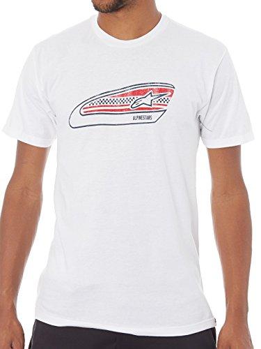 Alpinestars T-Shirt Réservoir Moteur Sports Moderne Fit Manches Courtes XL White