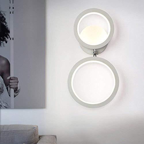 HOGREAT SMART LED Moderno Creativo Led Lámpara de pared de hierro Accesorio de pared Conciso Sconce-TV Gabinete Sala de estar Lámpara de pared Dormitorio Cabecera Lectura de pared Iluminación nocturna