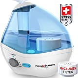 Ultrasonic Viral Support Humidifier for Bedrooms, Whisper-Quiet Operation with Nightlight and Auto-Shut Off, Adjustable Mist, 16 hours Operating Time & Filter Included