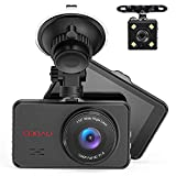 Front and Rear Dual Dash Cam Super Night Vision 1080P Full HD Dashboard in Car...