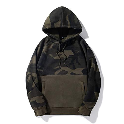 BAGFP Hoodie Pullover Camouflage Stitching Hoodie Herrenpullover Große Tasche Stitching Mantel Reise Mehrfarbig S-4Xl