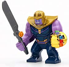 Super Heroes Avengers Infinity War Thanos Gold Plated Infinity Gauntlet with 24Pcs Power Stones Gems Building Blocks Figures decool0269 sy1099-2