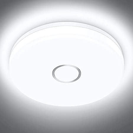 IP44 Waterproof Hallway Equate to 150W Bulb. Flush Light Fittings for Ceiling Living Room 18W Surface Mounted Led Ceiling Light Fitting Cool White Led Bathroom Ceiling Light for Kitchen