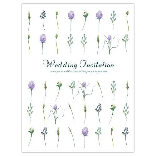 【AMO】結婚式 招待状 手作りキット ガーデンフラワー (封筒・返信ハガキ付き)【Wordテンプレートあり】