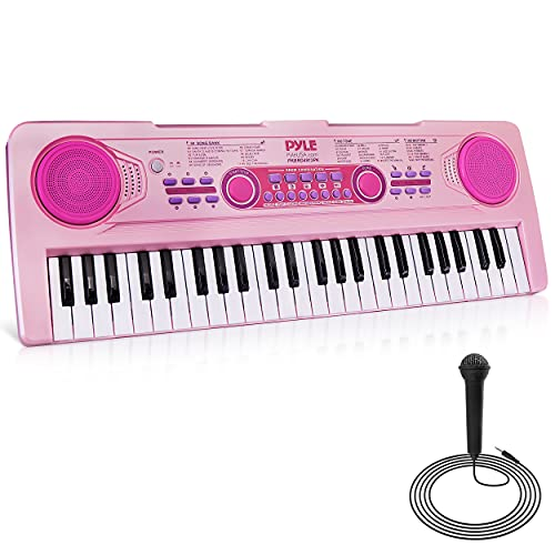 Pyle, Electric Keyboard 49 Keys-Portable Digital Musical Karaoke Piano Keyboard-100...