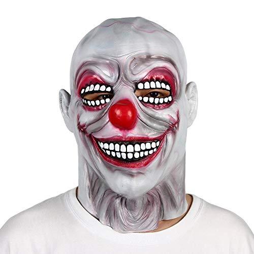 XWYWP Mscara de Halloween para fiesta de miedo payaso mscara de ltex de cabeza calva malvada horror accesorio nuevo x14142