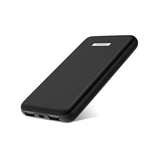 Power Bank, Ultra-Slim Dual 4.8A High-Speed Portable Phone Charger, Vancely 10000mAh External Phone Battery Pack for iPhone, iPad & Samsung Galaxy & More (Black)