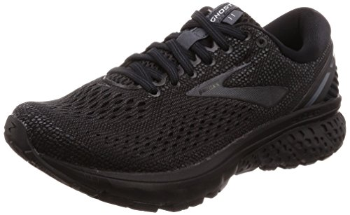 Brooks Womens Ghost 11 Running Shoe - Black/Ebony - B - 9.5