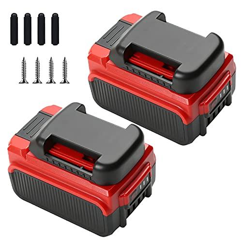 Bsioff 2pcs Batterie Remplacement pour Einhell 18V 5.0Ah Lithium-ION Convient à Tous Les appareils Power X-Change (avec 2 Supports de Batterie)