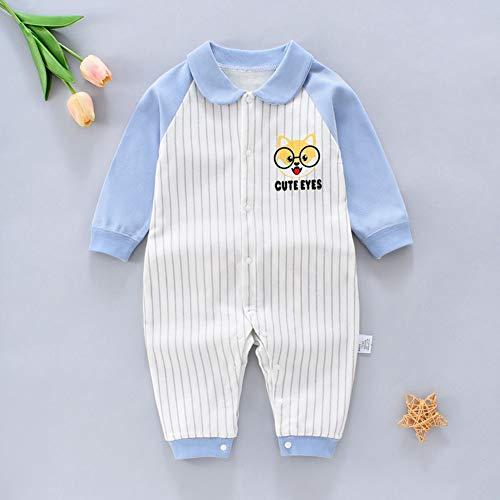 Pasgeboren Jumpsuit Cotton Bodysuit Leuke One Piece lange mouwen Romper Hansop Zomerkleren voor 0-14 maanden baby