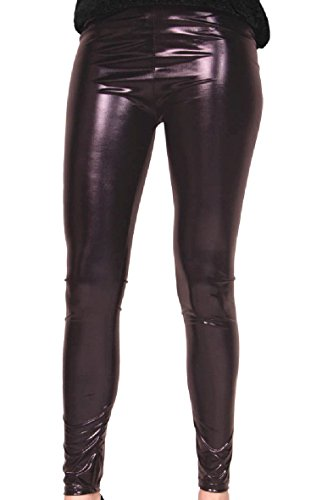 Folat 61711 Party Leggings Metallic L/XL zwart
