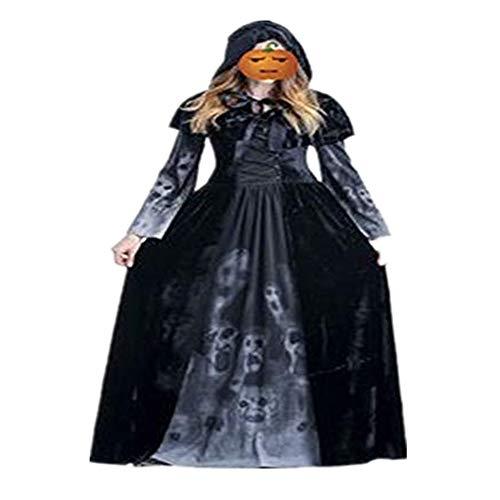 Discountl Halloween-Kostüm für Erwachsene, weibliche Göttin, lang, Horror-, Vampir-, Rollenspiel, Kleidung, Stange, Bühnenkostüm Gr. XX-Large, Bildfarbe