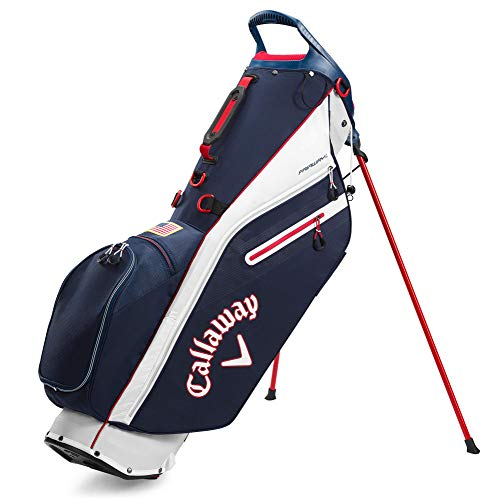 Callaway Golf 2020 Fairway C Stand Bag (Navy/Red/USA Flag , Double Strap)