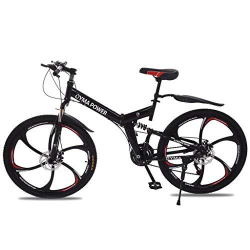 TOUNTLETS 26' Men's Mountain Bike, 21-Speed Full Suspension,Black