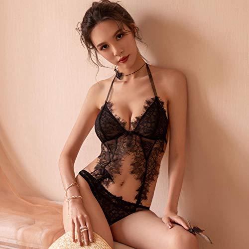 GREQ Completini Intimi Sexy Lingerie Erotica Femminile Plus Size Uniforme con Prospettiva del Vestito a Tre Punti