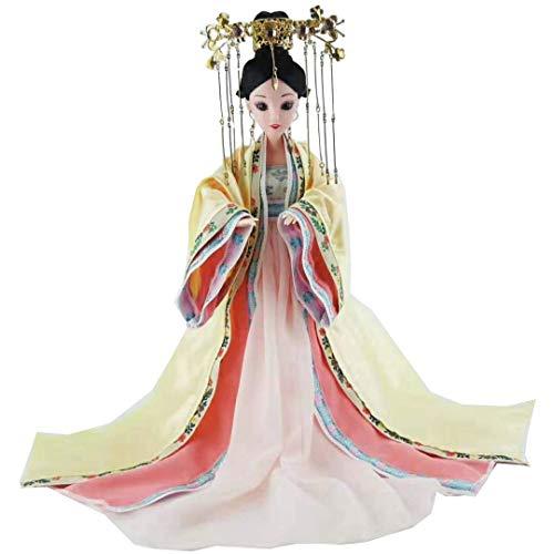Zidao Puppen, Sammlerpuppe, Orientalische Dekoration Figur Mit Exquisiter Orientalischer Frisur Und Puppenkleidung, Chinesische Puppe Für Schreibtischdekoration, Geschenk 30 cm,Flesh