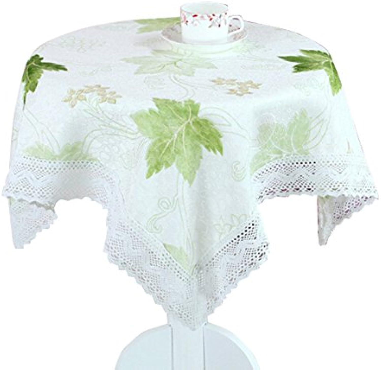 Tablecloth Pastoralen Stil Quadrat Tischdecke Hause Kaffee Tischdecke Kühlschrank Mikrowelle Abdeckung Handtuch Tischdecke Schlafzimmer Bett Kopftuch (Farbe   Grün, größe   100  100cm) B07CG3TXPX Hohe Qualität und günstig   Kunde zuer