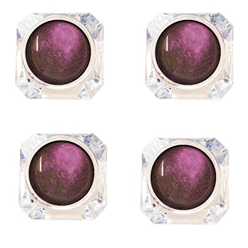 Fard à Paupières Paillettes,4pcs Glitter Shadow Shadow Monochrome Ombre à paupières Unique Glitter Ombre à paupières en poudre,Décoration pailletée pour ongles, corps, cosmétique