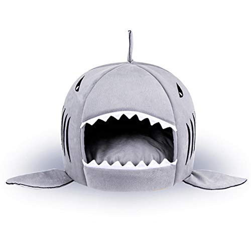DKNBI Cama para Perros Small Dog House Shark Washable House Pet Bed Shark Dog Bed Cat Beds & Mats House Sleeping Sofa Bed Removable Cushion For Dog Cat