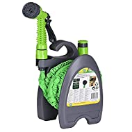 CUQOO 2 in 1 EXPANDABLE HOSE REEL SET – The CUQOO 2 in 1 hose reel with an expandable hose on it ideal for all homes and gardens. The Lightweight & compact expandable hose reel set comes with spray gun and quick connectors to allow you use it immedia...