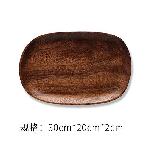 gousheng Essteller Japanischer Japanischer Essteller UnregelmäßIger HöLzerner Teller Snackplatte HöLzerner Obstteller Massivholztablett Umweltfreundlicher Essteller