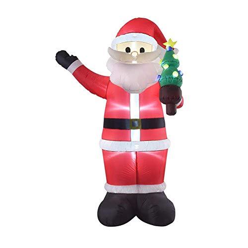 Light Weihnachten Aufblasbare Puppe, 2,4 M Weihnachtsmann Aufblasbare Modell Weihnachten Gartendekoration, Hochwertige Polyestergewebe