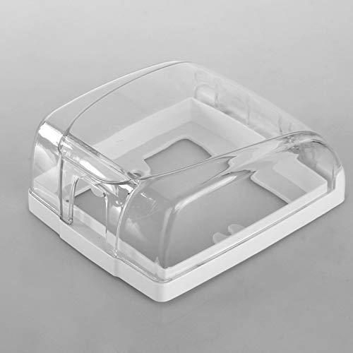 Carcasa de plástico resistente al agua, carcasa de pared con tapa para el interruptor de la puerta, cubierta de plástico impermeable, caja de pared, zócalo, timbre de puerta, cubierta para el hogar