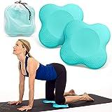 Peakally Rodillera Yoga, 2pcs Yoga Hombro Almohadillas Pilato Ejercicio [Antideslizante] [Espuma Suave] Protector Colchonetas para Rodillas, Manos, muñecas y Codos-Azul