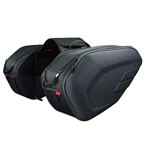 YMYGCC Alforjas Moto Motocicleta Impermeable Carreras Carrera Viaje Casco Bolsa Maleta Bolsa de sillín 18 (Size : Oxford and Plastic)