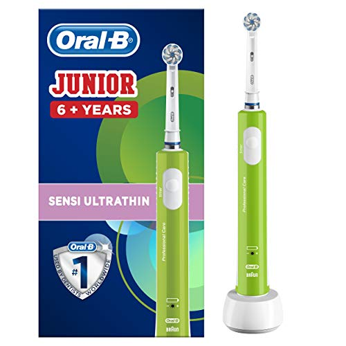 Oral-B Junior 6+ Niño Cepillo dental oscilante Verde - Cepillo de dientes...