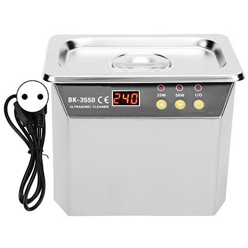 Limpiador Ultrasónico, Máquina de Limpieza por Ultrasonido, Alta Potencia para Joyería, Relojes, Anillos, Lavadora BK-3550 0.8L(EU220V)